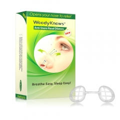 WoodyKnows Super Soft Nasal Dilators, Reduce Snoring, Snore Stopper, S+M+L, 3-Count